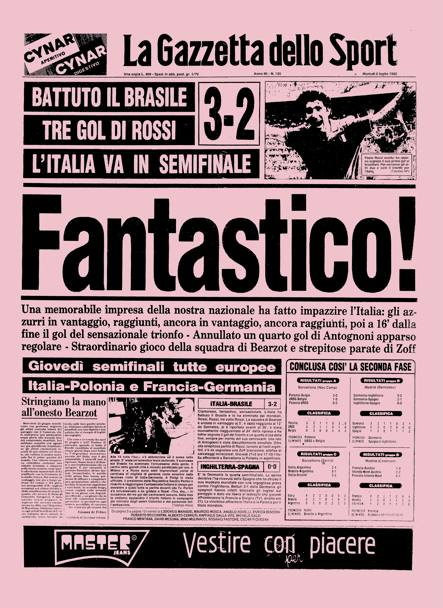 il mundial 1982 sulla gazzetta la gazzetta dello sport. Black Bedroom Furniture Sets. Home Design Ideas