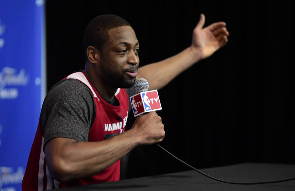 Dwyane Wade e il suo one-man show con i media. Reuters