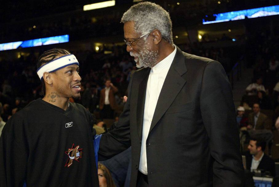 Con Bill Russell, 2005 (Nba/Getty Images)