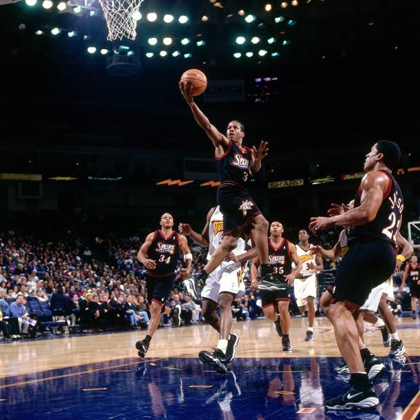 Philadelphia 76ers vs Golden State Warriors, 1998 (Nba/Getty Images)