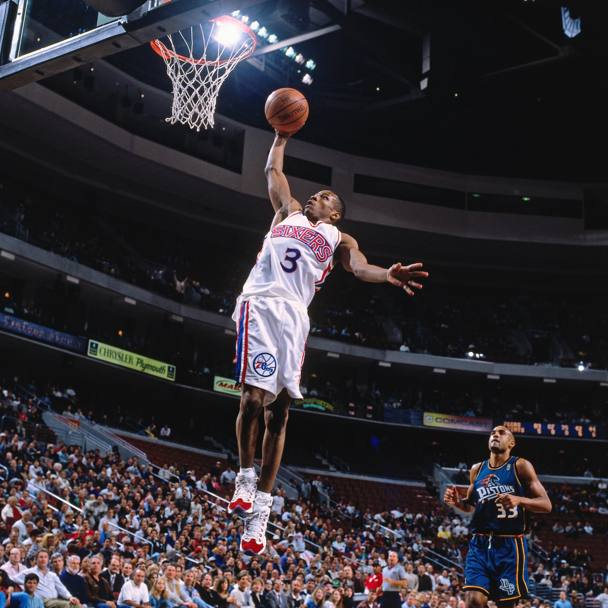 Nel 1997 contro i Detroit Pistons (Nba/Getty Images)