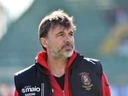 Marco Baroni, l'anno scorso al Lanciano. LaPresse