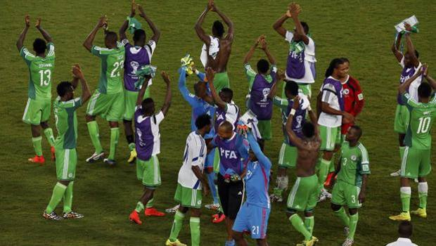 Gioia Nigeria a fine partita. Reuters