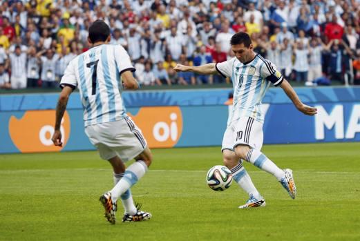 Il gol del vantaggio dopo appena 3 minuti. Reuters