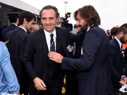 Addii: Andrea Pirlo e Cesare Prandelli. Getty Images