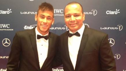 Neymar con suo padre