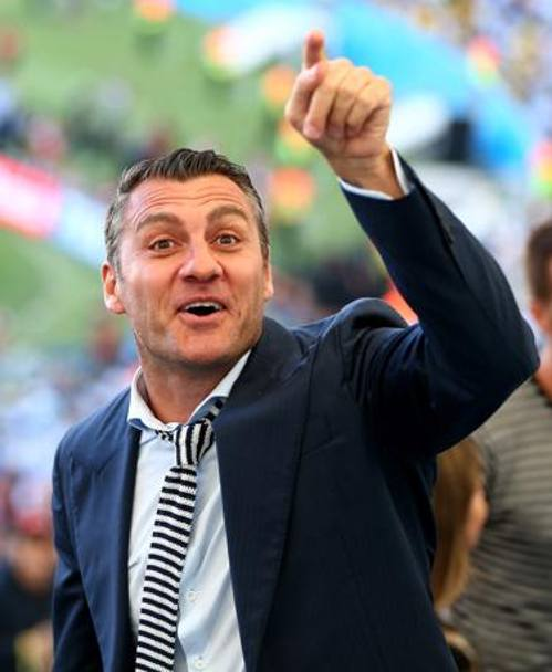 Bobo Vieri se la ride. Getty