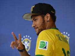 Il fuoriclasse brasiliano Neymar. Afp