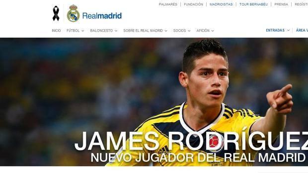 Così il sito del Real Madrid ha annunciato intorno alle 14 ora italiana la firma del colombiano James Rodriguez