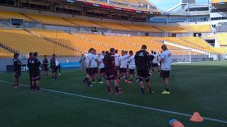 Il Milan si allena all'Heinz Field di Pittsburgh