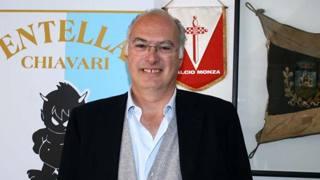 Antonio Gozzi, presidente dell'Entella, neopromossa in Serie B.