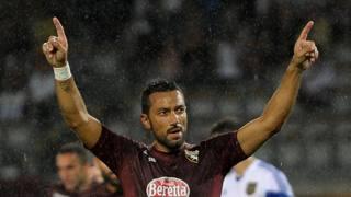 Fabio Quagliarella, in gol contro il Brommapojkarna. LaPresse
