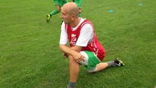 Tommaso Rocchi, 37 anni, si allena con l'Haladas