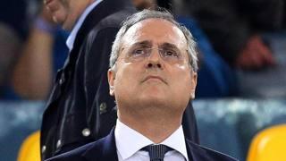 Il  presidente della Lazio Claudio Lotito. Ansa