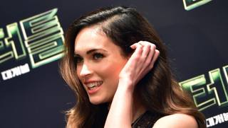 Megan Fox, 28 anni, a Seul per il lancio del film Teenage Mutant Ninja Turtles, di cui � protagonista. Afp