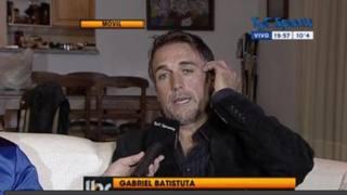 Gabriel Batistuta nell'intervista a Tyc Sports