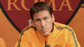 Rudi Garcia, tecnico della Roma. Ansa