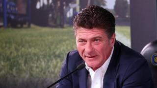 L'allenatore dell'Inter Walter Mazzarri. Ansa