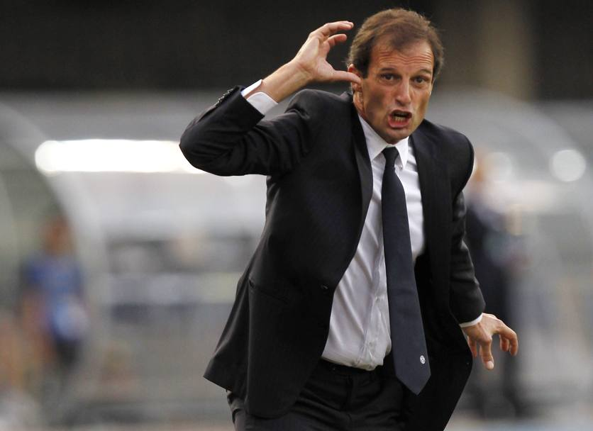 Allegri si arrabbia. Action Images
