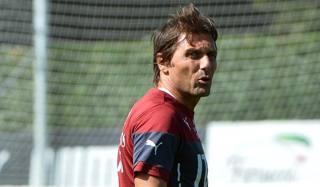 Antonio Conte ha diretto oggi la prima seduta azzurra. Afp