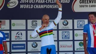 Michele Pittacolo  ha vinto il titolo di campione del mondo su strada, categoria C4