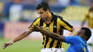 Giorgi Chanturia con la maglia del Vitesse Arnhem, la scorsa stagione. Afp