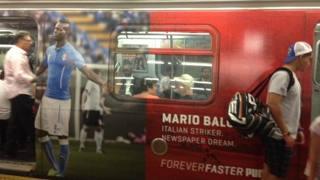 Balotelli protagonista nelle metropolitane newyorkesi