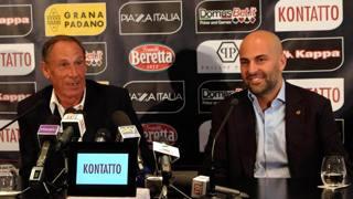 Tommaso Giulini con Zdenek Zeman. Ansa