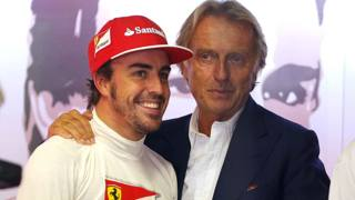 Fernando Alonso con Luca di Montezemolo. LaPresse