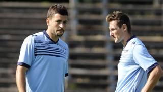 Filip Djordjevic e Miroslav Klose. LaPresse