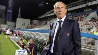 Zdenek Zeman, tecnico del Cagliari. Ansa