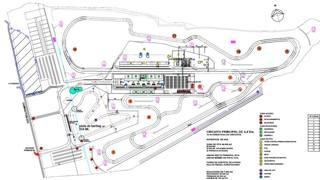 Il disegno del nuovo circuito di Codegua, in Cile