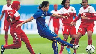 Un momento di Thailandia-Maldive 10-0