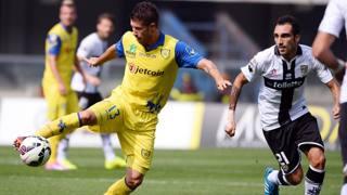 Mariano Izco, 31 anni, in azione contro il Parma. Ansa