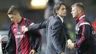 Filippo Inzaghi ringrazia Fernando Torres. Ansa