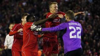 L'esultanza del Liverpool dopo l'ultimo rigore. Reuters