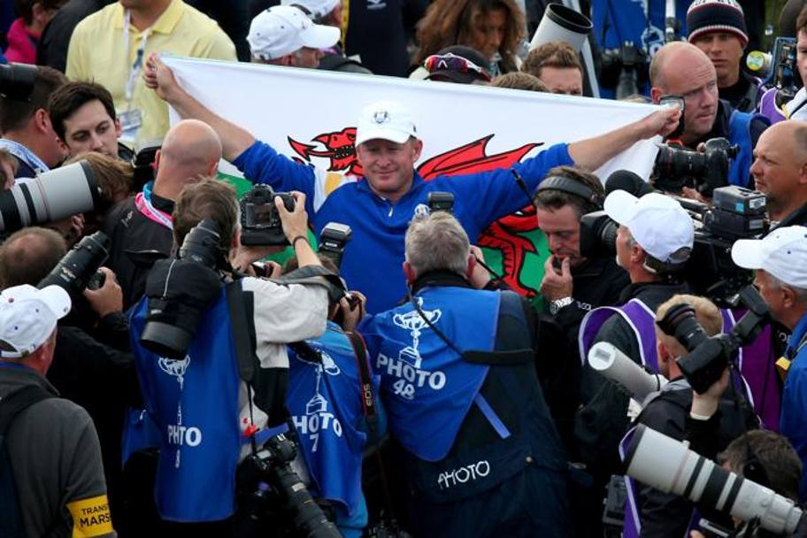 Ancora Jamie Donaldson, debuttante in Ryder Cup. Getty