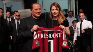 Silvio Berlusconi, 78 anni ieri, con la figlia Barbara. Lapresse