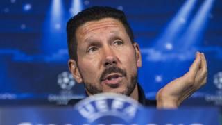 Diego Pablo Simeone, 44 anni, tecnico dell'Atletico Madrid. Ap