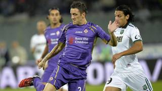 Gonzalo Rodriguez, 30 anni, in azione contro il Sassuolo. Ansa