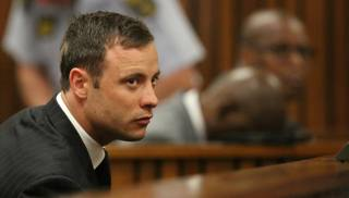Oscar Pistorius in tribunale. AP