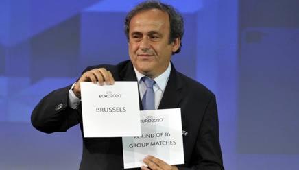 Michel Platini, presidente Uefa. Getty