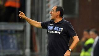 Maurizio Sarri, tecnico dell'Empoli. LaPresse