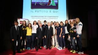 Un momento della presentazione a Milano