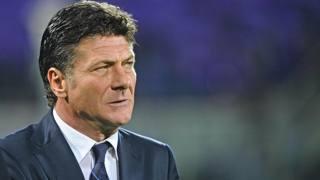 Il tecnico dell'Inter Walter Mazzarri. Ansa