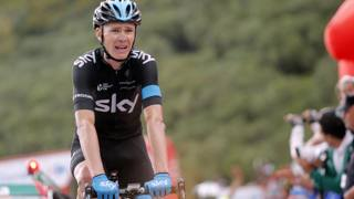 Chris Froome alla Vuelta di quest'anno. Bettini