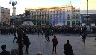 Panico in centro a Milano. Twitter