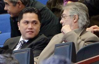 Erik Thohir e Massimo Moratti, presente e passato dell'Inter. Ansa
