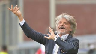 Massimo Ferrero, 53 anni, imprenditore romano e presidente della Samp. Ansa