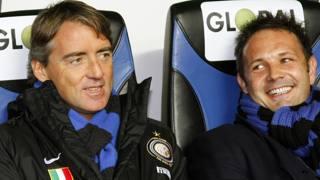 2007/2008: quando Sinisa Mihajlovic era il vice di Roberto Mancini all'Inter. Afp
